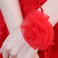פרחי חתונה תפור ביד זר פרחים לפרק כף ידאירוסין יומהולדת טבע מתנה מסיבה וערב אחרים לילה בחוץ ואירוע מיוחד חג המולד קרנבל חג מקלחת כלה ללכת