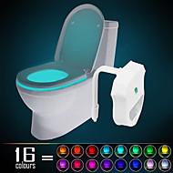 Ywxlight® ip65 16 kleuren bewegend geactiveerd toilet nachtlampje, geschikt voor elke wc-waterbestendige badkamer nachtlicht makkelijk