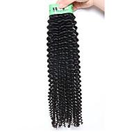 Az emberi haj sző Maláj haj Kinky Curly 18 hónap 1 darab haj sző