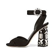 נשים-סנדלים-פליז-נעלי מועדון--שמלה יומיומי מסיבה וערב-עקב עבה