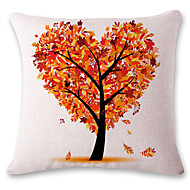 1 pcs Colored heart-shaped tree printing style linen pillow sets sofa cushions cover
