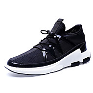 Men's Sneakers Comfort PU Tulle Spring Summer Fall Winter Athletic Casual Outdoor Walking Comfort Gore Black Gray Flat