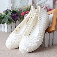 Damen-Sandalen-Lässig-PU-Blockabsatz-Fersenriemen-Weiß