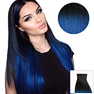20PCS Tape In Hair Extensions Black To Blue Envy Ombre 40g 16Inch 20Inch 100% Human Hair For Women
