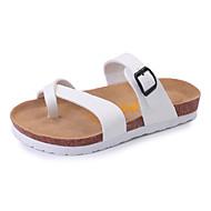 Ženske Sandale Udobne cipele PU Ljeto Kauzalni Udobne cipele Kopča Ravna potpetica Obala Crn Ravne