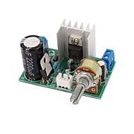 Lm317 placa de placa de alimentação com proteção 1.25v-37v 1.5a regulador de tensão DC contínua ajustável