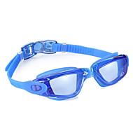 Óculos de Natação Anti-Nevoeiro Á Prova-de-Água Tamanho Ajustável Gel Silica PC Preto Azul Cinzento Claro Azul Claro