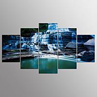 Strukket Lærred Print Landskab Moderne,Fem Paneler Kanvas Alle Former Kunsttryk Vægdekor For Hjem Dekoration