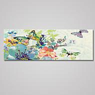 Estampados de Lonas Esticada Floral/Botânico Pastoril Estilo Europeu,1 Painel Tela Horizontal Impressão artística Decoração de Parede For