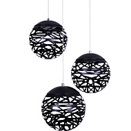 3Lights Pendant Light Modern/Contemporary Painting Metal Living Room Dining Room Coffee Bar Black & White