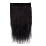22inch jeden kawałek 5 klipów w 100% remy ludzkiego przedłużenia włosów 100m ręcznie robione ręcznie
