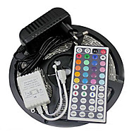 Z®ZDM Waterproof 5M 300X3528 SMD RGB LED Strip Light and 44Key Remote Controller and 3A EU/US/UK Power Supply (AC110-240V)
