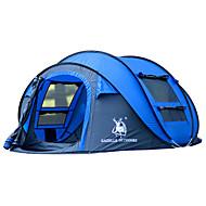 3-4 kişi Çadır Tek Otomatik Çadır Bir Oda Kamp çadırı Fiberglas OxfordSu Geçirmez Ultravioleye Karşı Dayanıklı Rüzgar Geçirmez