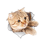 Wall Stickers Wall Decals Style Cartoon Lovely Cat PVC Toilet Stickers