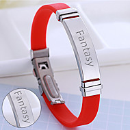 Factory direct sales event venue gifts can be processed lettering new hand silicone stainless steel bracelet