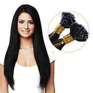 ihmisen hiusten pidennykset u kärki oikean ihmisen hiusten pidennykset keratiini 100 säikeitä väri # 1b Remy hiusten fuusio pidennykset
