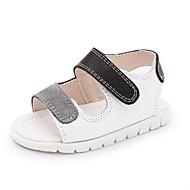 Для детей Дети Сандалии Обувь для малышей Кожа Весна Лето Повседневные Обувь для малышей На плоской подошве Белый ЧерныйНа плоской