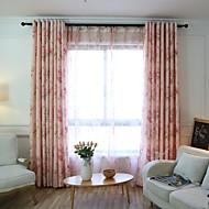 Dva panely Window Léčba Země , Květiny Ložnice Polyester Materiál záclony závěsy Home dekorace For Okno