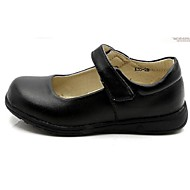 Mädchen-Flache Schuhe-Kleid-Wolle-Flacher Absatz-Komfort-Schwarz