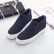 Damen-Flache Schuhe-Lässig-PU-Blockabsatz-Fersenriemen-