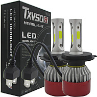 txvso8 auto johti 2x h4 hi / lo auton ajovalot 252w 25200lm auto led lamput h4 h / l palkki autojen ajovalaisimen Sumuvalonheitin 6500K