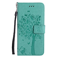 For Apple iPhone 7 Plus 7 PU Leather Cat and Tree Pattern Phone Case 6s Plus 6 Plus 6s 6 SE 5s 5 5c 4s 4