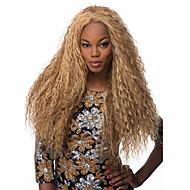 Lange blonde Farbe Perücken für schwarze Frauen hitzebeständige synthetische Perücke lockige synthetische Frauen afro europäischen
