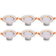 Downlight de LED Branco Quente Branco Frio LED 6 pçs