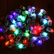 50pcs / set ledet rgb flash lamper ballonglys for papir lantern ballong lys flerfarget hvit blå gul bryllup dekorasjon