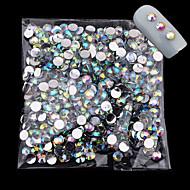 1000pcs / pack 4mm nieuw aankomen glitter acryl nagel kunst ab kristal strass charme diy schoonheid 3d nagel decoratie gereedschap