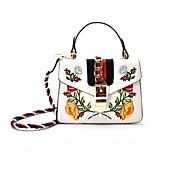 Women Bags All Seasons PU Shoulder Bag with for Casual Blue White Black Red Clover