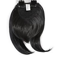 Neitsi 1pcs 8 '' 25g natürliches schwarzes Haar fringe Clip innen auf Haar schlägt synthetische Haarverlängerungsstücke 1b #