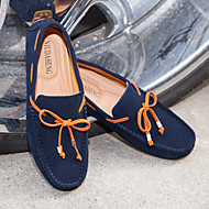 Men's Boat Shoes Comfort Leather Office & Career Casual Blue Brown Gray Orange