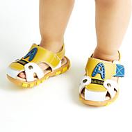 Γυναικεία παπούτσια-Σανδάλια-Ύπαιθρος Καθημερινό Αθλητικά-Χαμηλό Τακούνι-Ανατομικό-Δέρμα-Μπλε Καφέ Κίτρινο