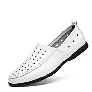 Homme Chaussures Polyuréthane Printemps Automne Confort Mocassins et Chaussons+D6148 Creuse Pour Décontracté Blanc Noir Jaune Marron