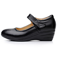 Dames Oxfords Lente Comfortabel PU Casual Zwart
