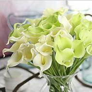 10 Gren Ekte Touch Calla-lilje Bordblomst Kunstige blomster