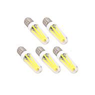 4W E14 G9 Izzószálas LED lámpák T 300 lm Meleg fehér Hideg fehér Állítható AC 220-240 V 5 db.
