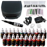 Solong tatuagem permanente maquiagem kit tatuagem caneta sobrancelha lábio máquina conjunto 23 tintas de maquiagem ek708-2