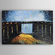 Ručně malované Krajina Horizontálně,evropský styl Jeden panel Plátno Hang-malované olejomalba For Home dekorace