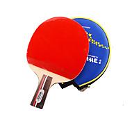 1 Stern Ping Pang/Tischtennis-Schläger Ping Pang Holz Kurzer Griff Pickel