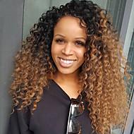 Ombre t1b / 30 brazilské panenské vlasy glueless krajkové paruky kinky kučeravé plné krajky lidské vlasy paruky s dětmi vlasy panenka