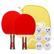 3スター Ping Pang/卓球ラケット Ping Pang ウッド ロングハンドル ショートハンドル にきび