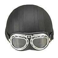 Poloviční helma Přilba s brýle ABS Motocyklové helmy