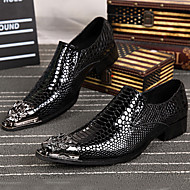 Men's Oxfords Spring Summer Fall Winter Formal Shoes Nappa Leather Outdoor Office & Career Party & Evening Casual Silver Gold