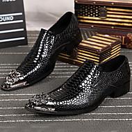 Oxfords-Nappalæder-Formelle sko-Herrer-Guld Sølv-Udendørs Kontor Fritid Fest/aften