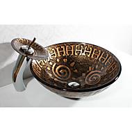 עתיק עגול חומר סינק הוא זכוכית מחוסמת כיור אמבטיה
