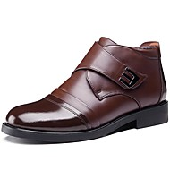 Men's Boots Spring Fall Winter Comfort Cowhide Outdoor Office & Career Party & Evening Casual Coffee Black