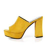 Women's Heels Spring Summer Fall Comfort Fabric Casual Chunky Heel Green Yellow Black