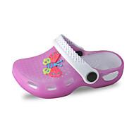 女の子-アウトドア カジュアル アスレチック-ポリ塩化ビニール-フラットヒール-ジェリーシューズ 穴の靴-サンダル-